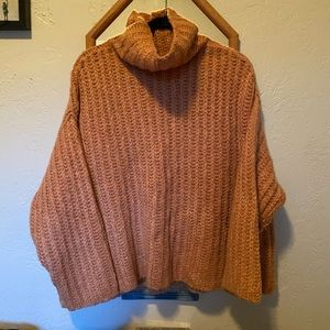 Free People Soft Knit Cowl Neck Sweater